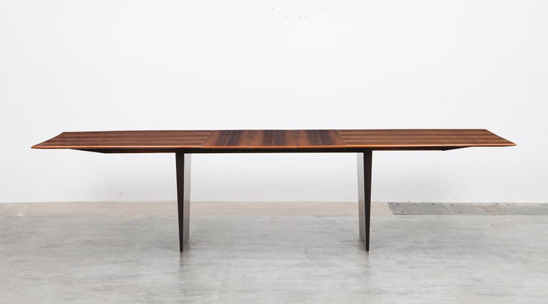 American 1960s Brown Tawi Wood Dining Table by Edward Wormley 'B' For Sale