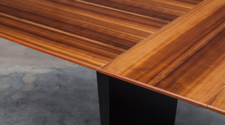 Mid-20th Century 1960s Brown Tawi Wood Dining Table by Edward Wormley 'B' For Sale
