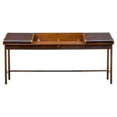 1960s Brown Wooden Desk by Edward Wormley 'c'