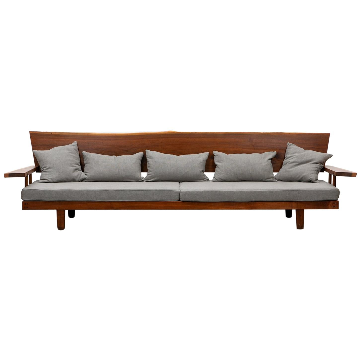 1960s Brown Wooden Sofa by George Nakashima 'B'