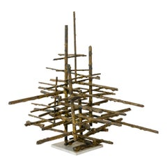 1960s Brutalist Bronze Tabletop Sculpture