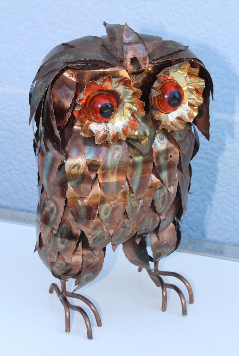 1960s Brutalist Owl Sculpture In Good Condition For Sale In New York City, NY