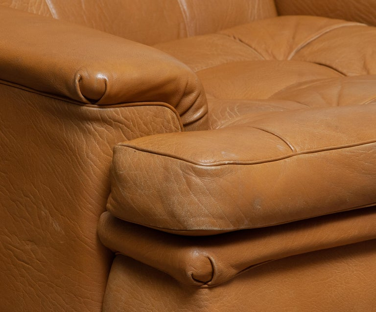 Swedish 1960s Camel Quilted Buffalo Leather