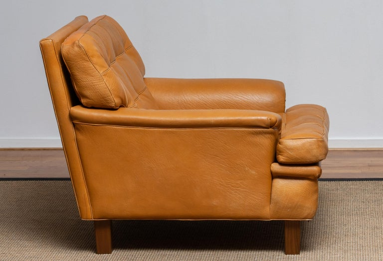 1960s Camel Quilted Buffalo Leather