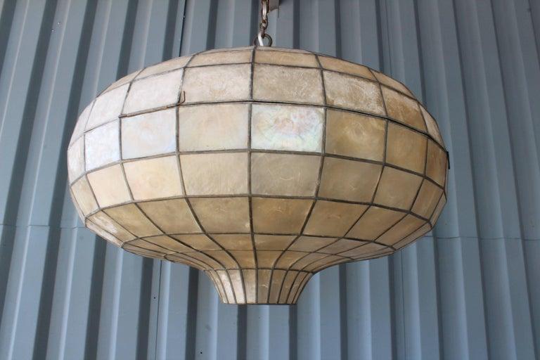 1960s capiz pendant light at 1stdibs metal 1960s capiz pendant light for sale aloadofball Images