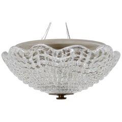 1960s Carl Fagerlund for Orrefors Glass Pendant Lamp