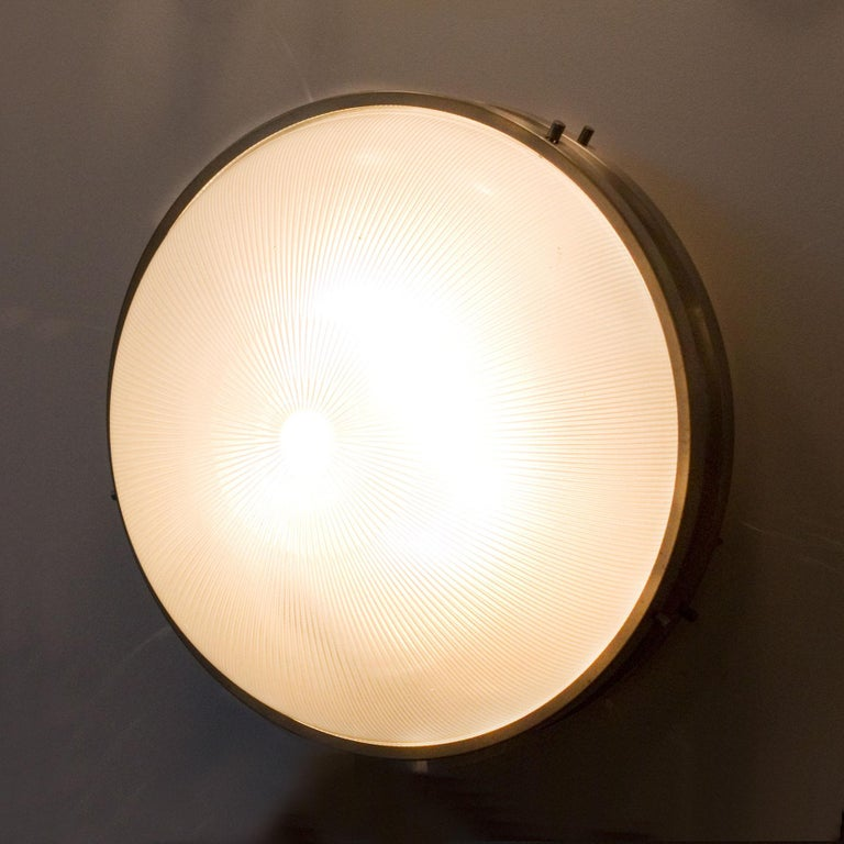Plated 1960s Ceiling or Wall Light