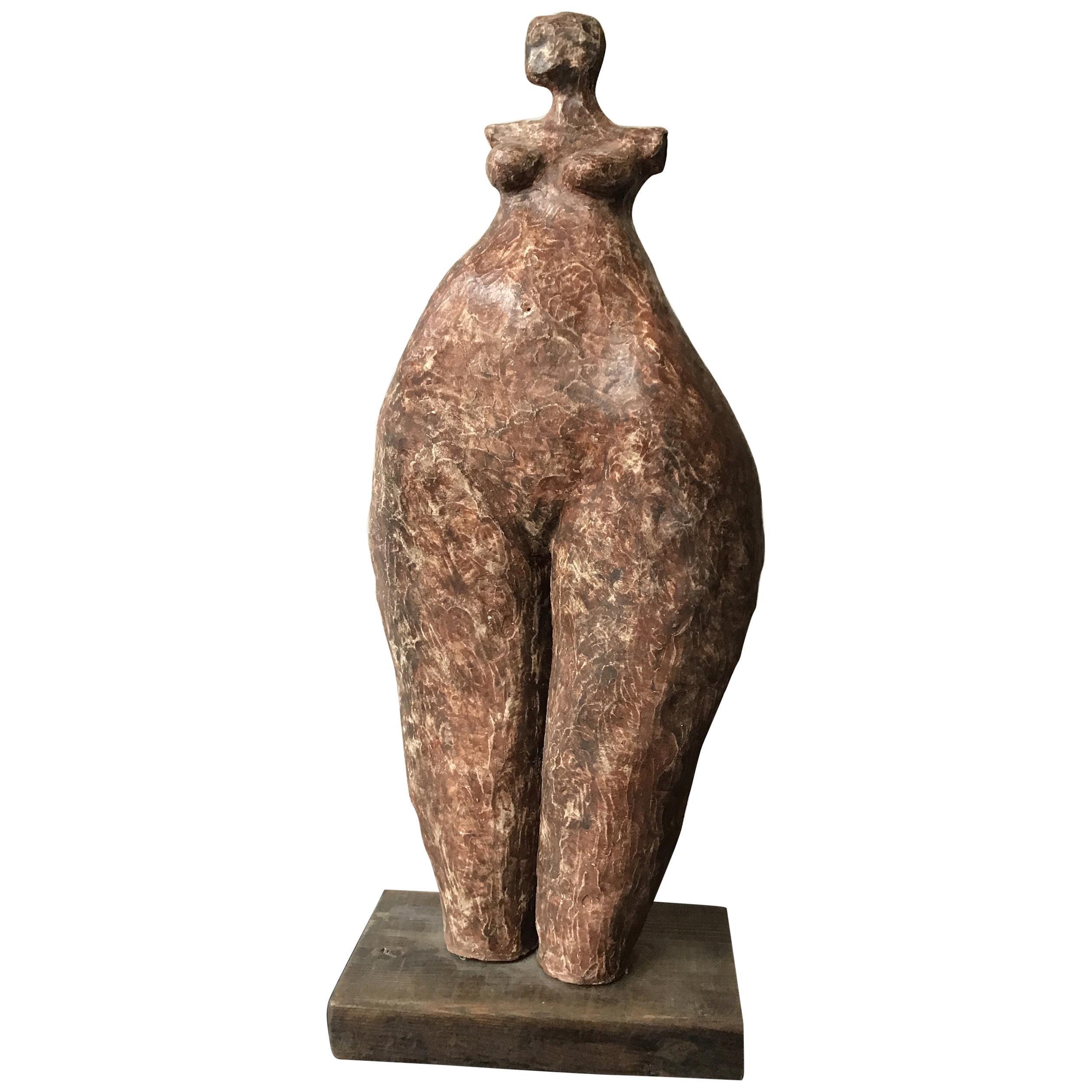 1960s Ceramic Abstract Female Sculpture