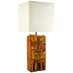 1960s Ceramic Lamp in the Style of Roger Capron