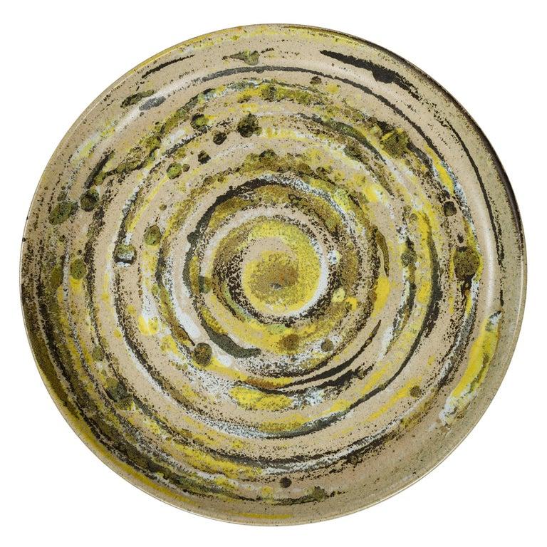 American Craftsman 1960s Ceramic Platter by Gordon & Jane Martz for Marshall Studios For Sale
