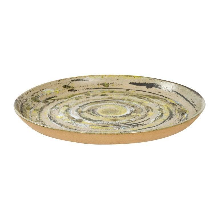 1960s Ceramic Platter by Gordon & Jane Martz for Marshall Studios For Sale