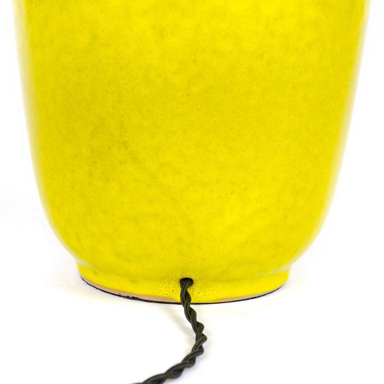 Glazed 1960s Ceramic Table Lamp by Lee Rosen for Design Technics For Sale