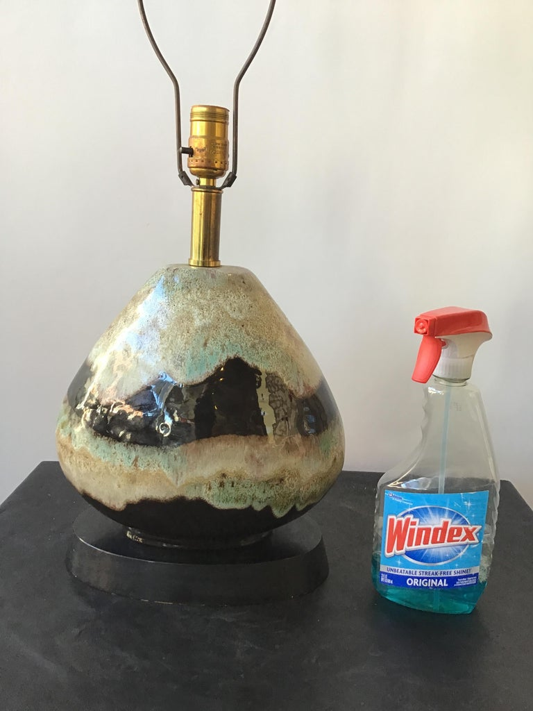 1960s Ceramic West German Lamp In Good Condition For Sale In Tarrytown, NY