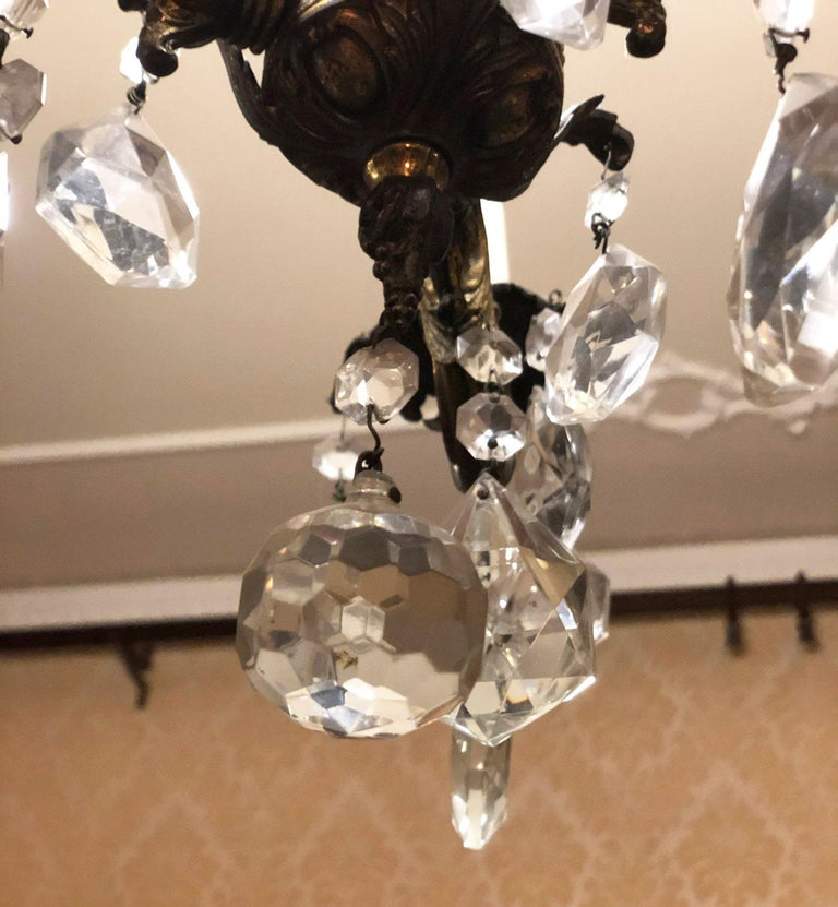 1960s Chandelier with Glass Pendants, Italy For Sale 1
