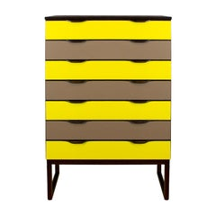 """1960s Chest of Drawers """"Semainier"""", Mahogany and Formica, Czech Republic"""