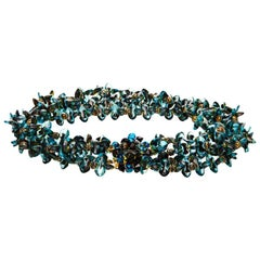 1960s Christian Dior Glass Beaded Choker Necklace