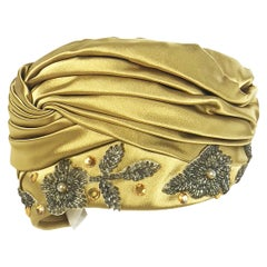1960s Christian Dior Silk Turban with Beading