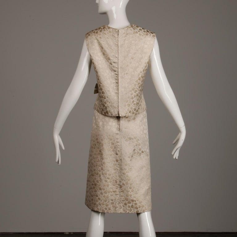 1960s Christian Dior Vintage Silk + Mink Fur Dress Ensemble (Top/ Skirt/ Jacket) For Sale 9