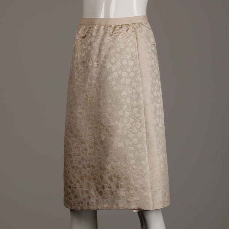 1960s Christian Dior Vintage Silk + Mink Fur Dress Ensemble (Top/ Skirt/ Jacket) For Sale 10
