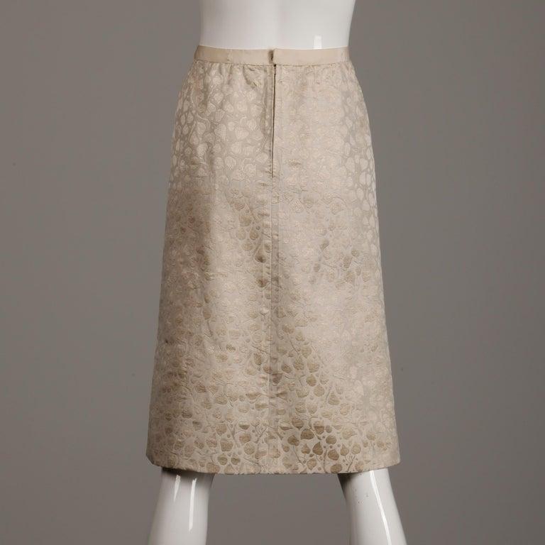 1960s Christian Dior Vintage Silk + Mink Fur Dress Ensemble (Top/ Skirt/ Jacket) For Sale 11