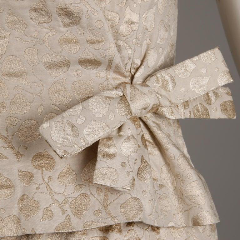 Women's 1960s Christian Dior Vintage Silk + Mink Fur Dress Ensemble (Top/ Skirt/ Jacket) For Sale