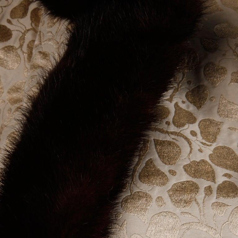1960s Christian Dior Vintage Silk + Mink Fur Dress Ensemble (Top/ Skirt/ Jacket) For Sale 2