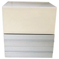 1960s Claudio Salocchi Bar Unit, Aluminium, White Lacquer for Sormani, Italy