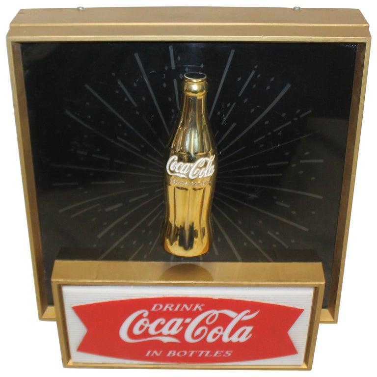 """1960s Coca-Cola """"Starburst"""" Light Up Sign For Sale"""