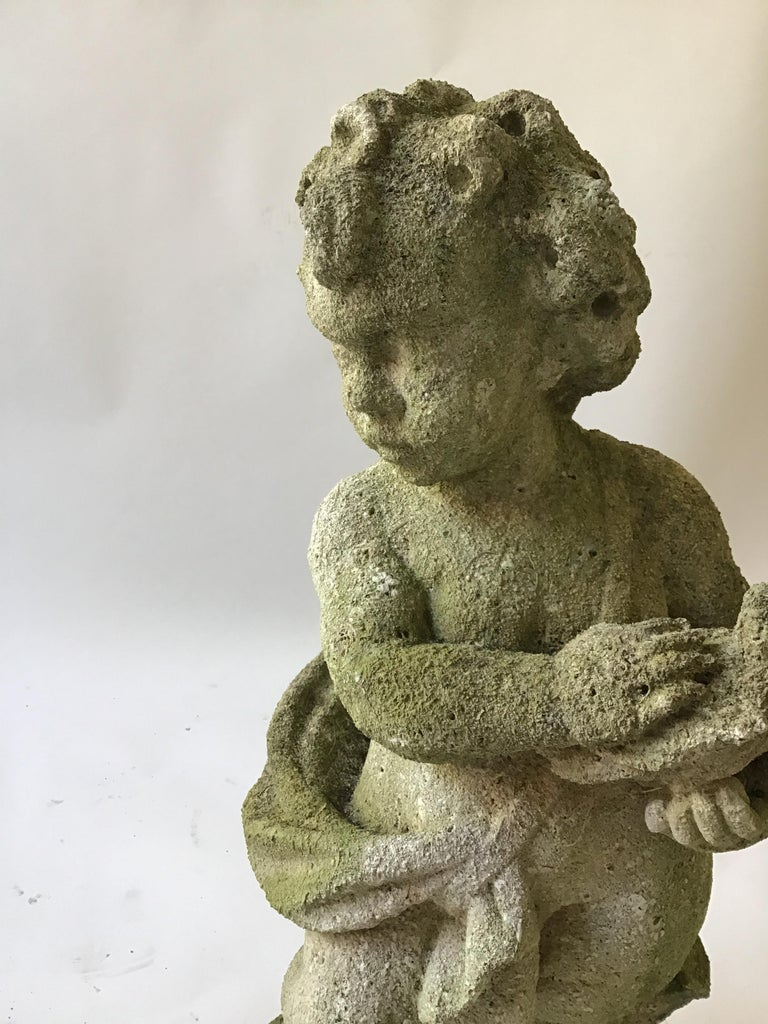 1960s Concrete Cherub In Good Condition For Sale In Tarrytown, NY