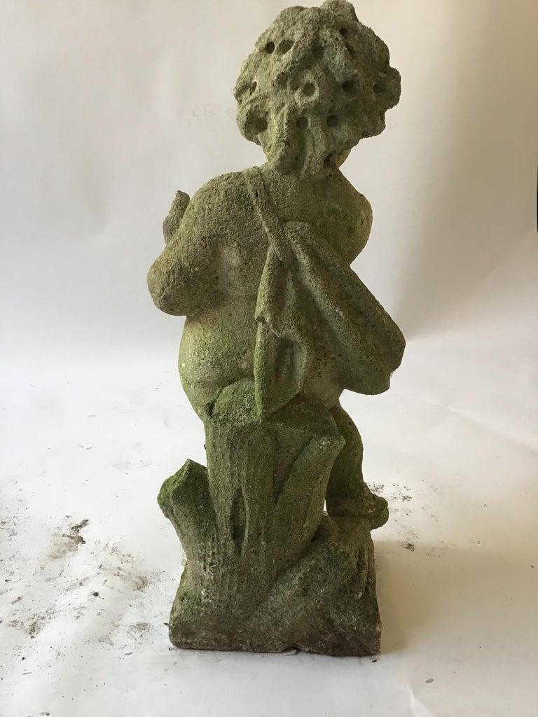 1960s Concrete Cherub For Sale 1