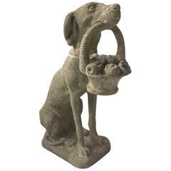 1960s Concrete Dog