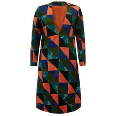 1960s Couture Patchwork Chinese Silk Coat