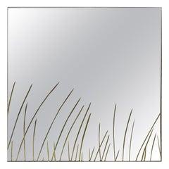 1960s Cristal Arte Engraved Mirror