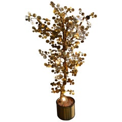 1960s Curtis Jere Gold 'Raindrop Style' Tree Sculpture Made by Artisan House