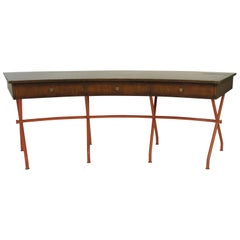 1960s Curved Writing Desk