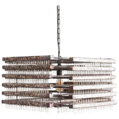 1960s Czech Metal Pendant Light