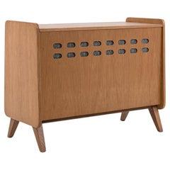 1960s Czech Mid-Century Modern Teak Stereo Cabinet