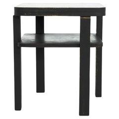 1960s Czech Wooden Side Table