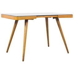 1960s Czechoslovakian Wooden and Glass Table