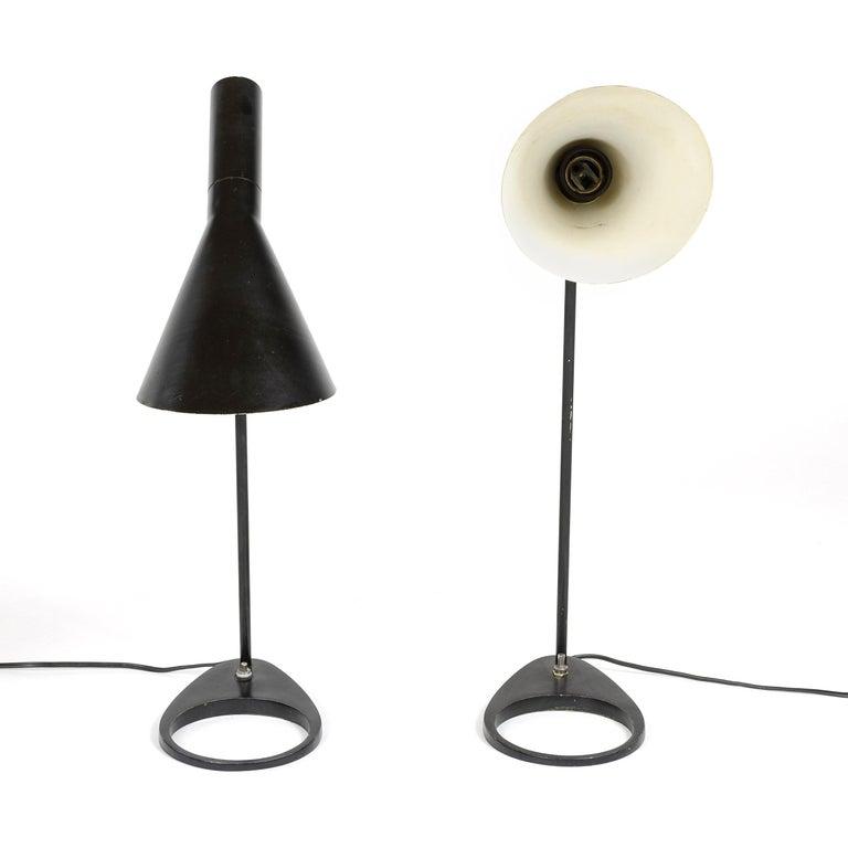 Metal 1960s Danish AJ Extra Large Desk Lamp by Arne Jacobsen for Louis Poulsen For Sale