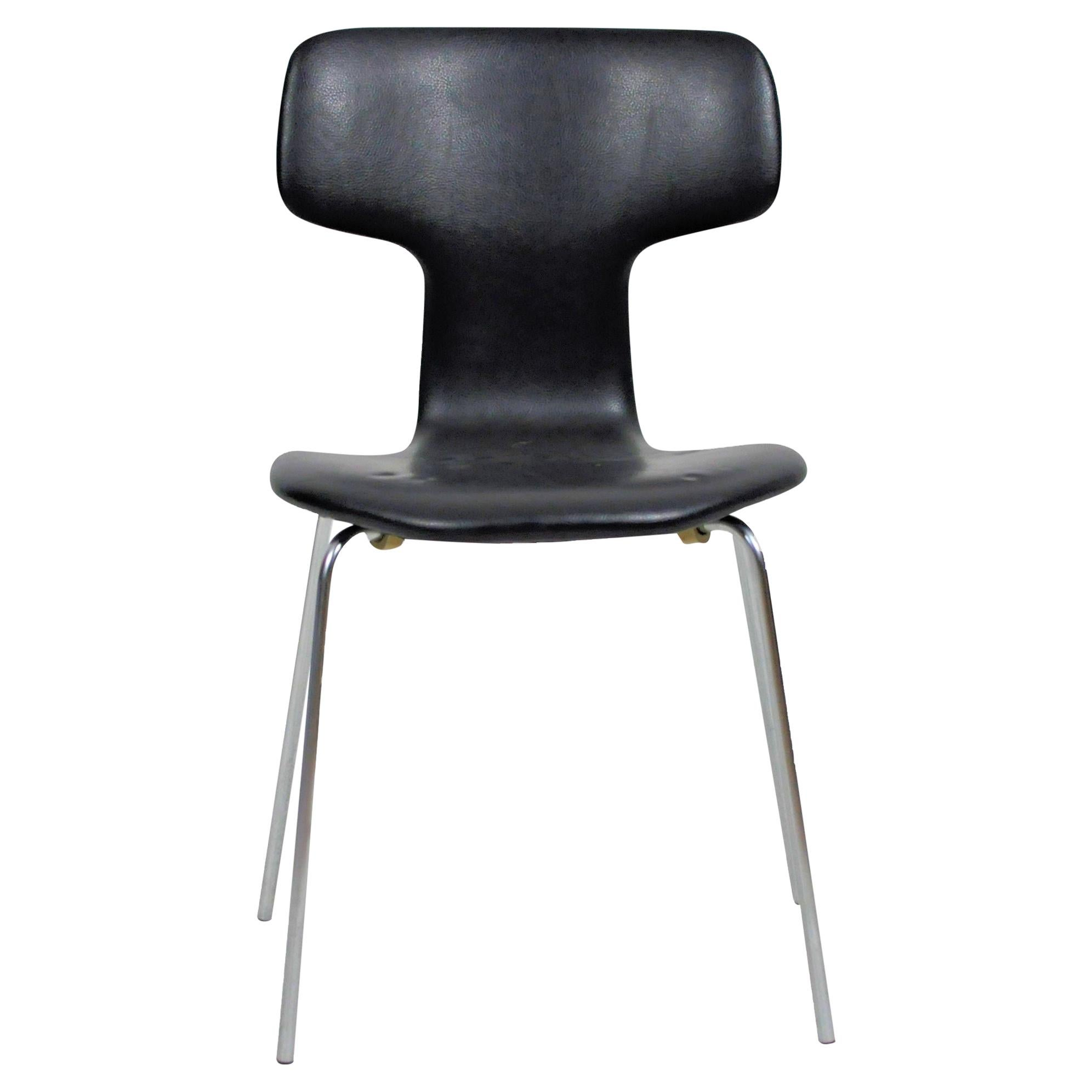 1960s Danish Arne Jacobsen T-Chair / Hammer Chair by Fritz Hansen