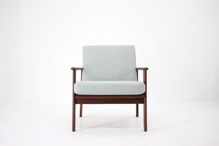 Mid-Century Modern 1960s Danish Beech Armchair For Sale