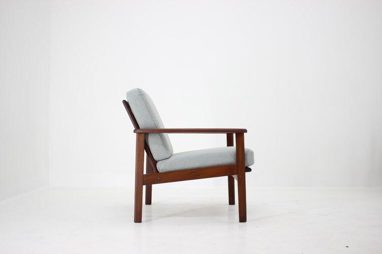 1960s Danish Beech Armchair In Good Condition For Sale In Praha, CZ