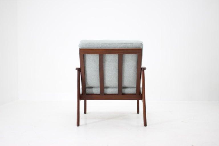 Mid-20th Century 1960s Danish Beech Armchair For Sale