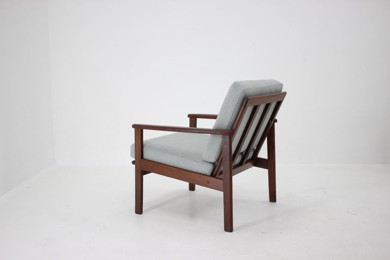 Upholstery 1960s Danish Beech Armchair For Sale