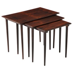 1960s Danish Brazilian Rosewood Nesting Tables