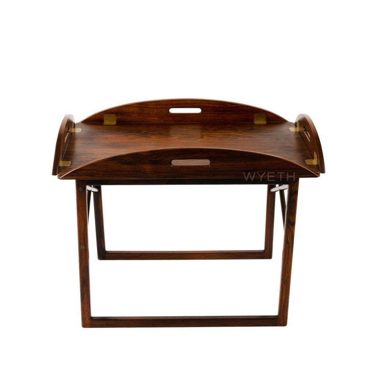 1960s Danish Butlers Tray by Svend Langekilde for Langkilde Mobler In Good Condition For Sale In Sagaponack, NY