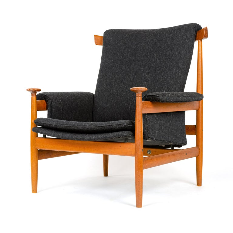 1960s Danish 'Bwana' Teak Lounge Chair and Ottoman by Finn Juhl for France & Son In Excellent Condition For Sale In Sagaponack, NY
