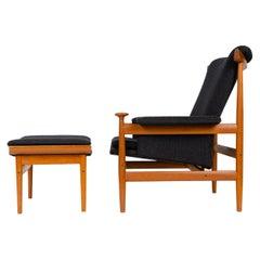 1960s Danish 'Bwana' Teak Lounge Chair and Ottoman by Finn Juhl for France & Son