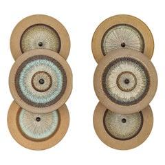 1960s Danish Ceramic Sconces
